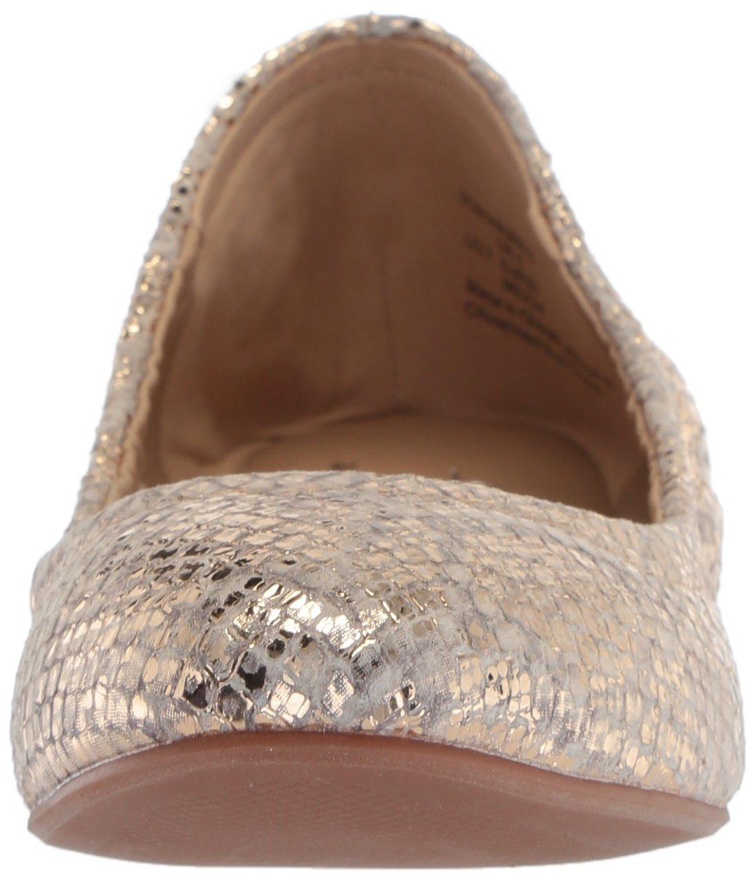 The Fix Women's Sonya Scrunch Metallic Ballet Flat B07712BXB3 6.5 Embossed B(M) US|Gold Metallic Snake Embossed 6.5 Leather 790ed2