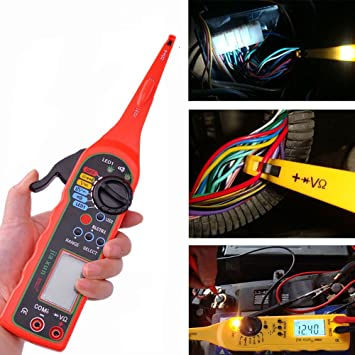 amazon com multi function auto circuit tester multimeter lamp car rh amazon com auto electrical wiring tester Electrical Test Leads