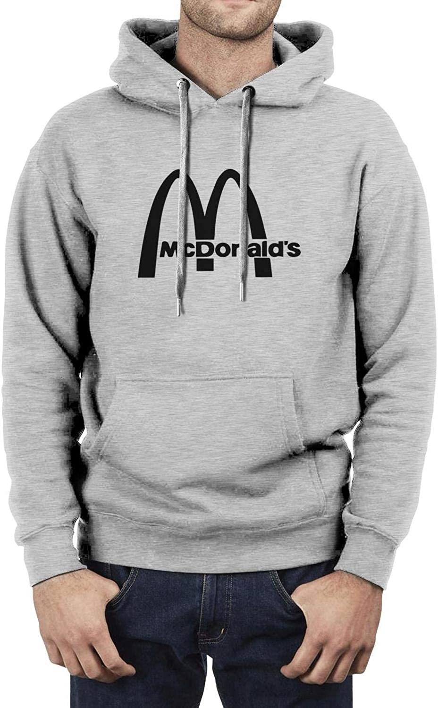 Just Hiker Cool Long Sleeve Lightweight Sweatshirts Hamburger- Pullover Hoodies for Men
