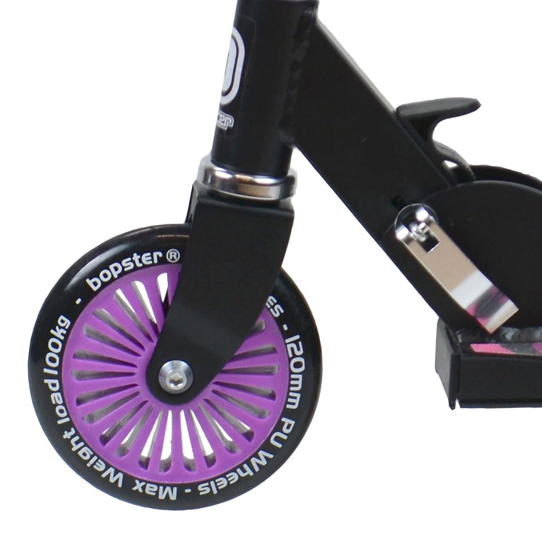 Purple Zebra Stripes Bopster 2 Wheeled Folding Scooter