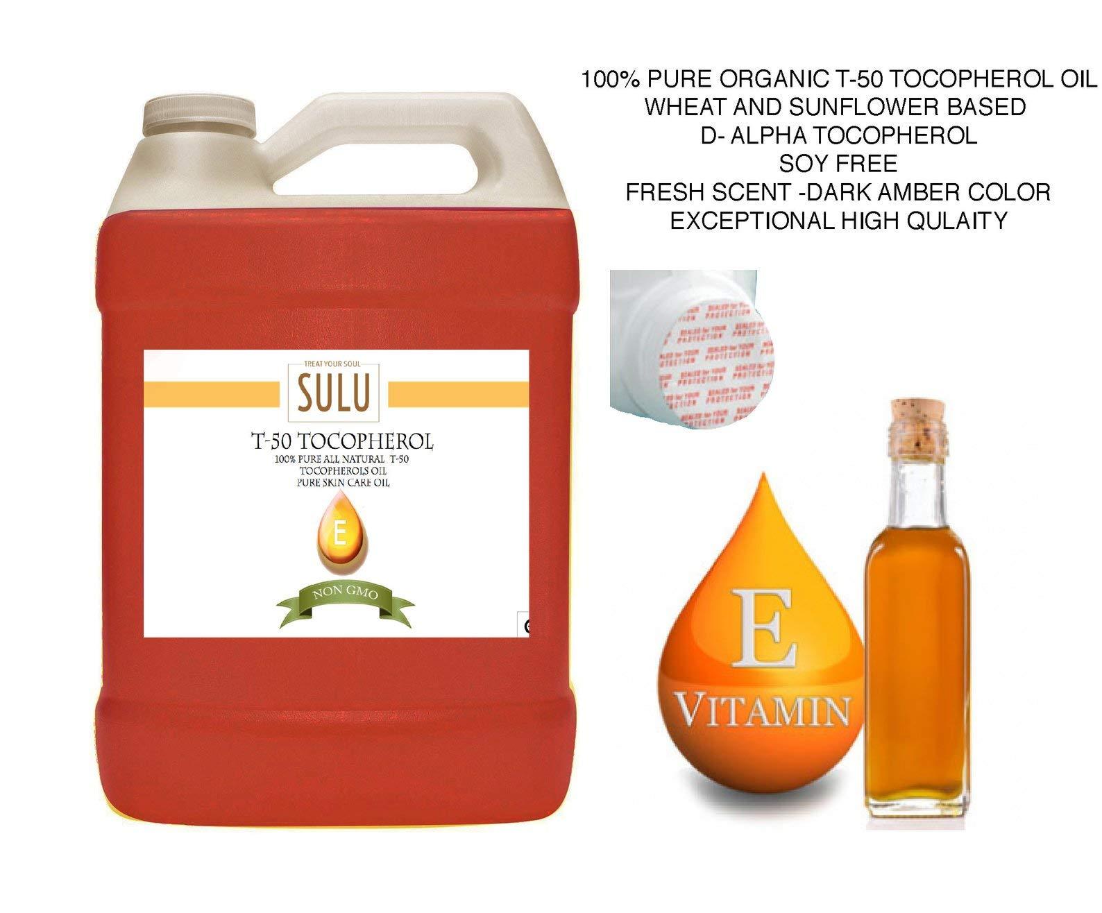 100% Pure Organic T-50 Tocopherol Vitamin E Oil (7 lbs)