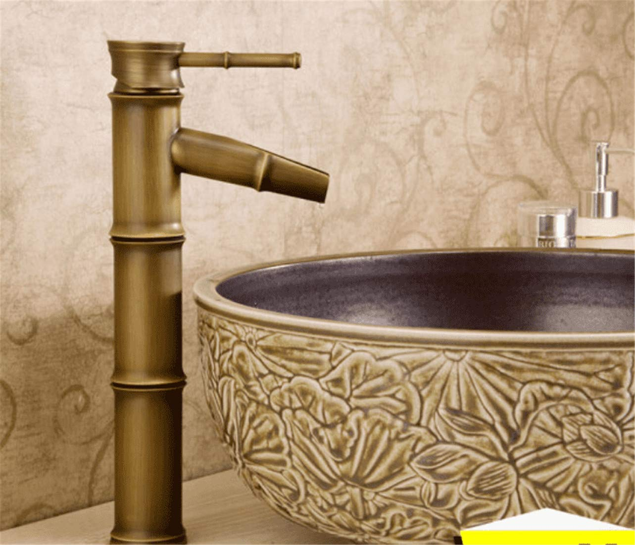 E Mucert Tap,All Copper,European Style Archaize Tap,Hot and Cold Water,Bathroom Retro Basin Faucet,K
