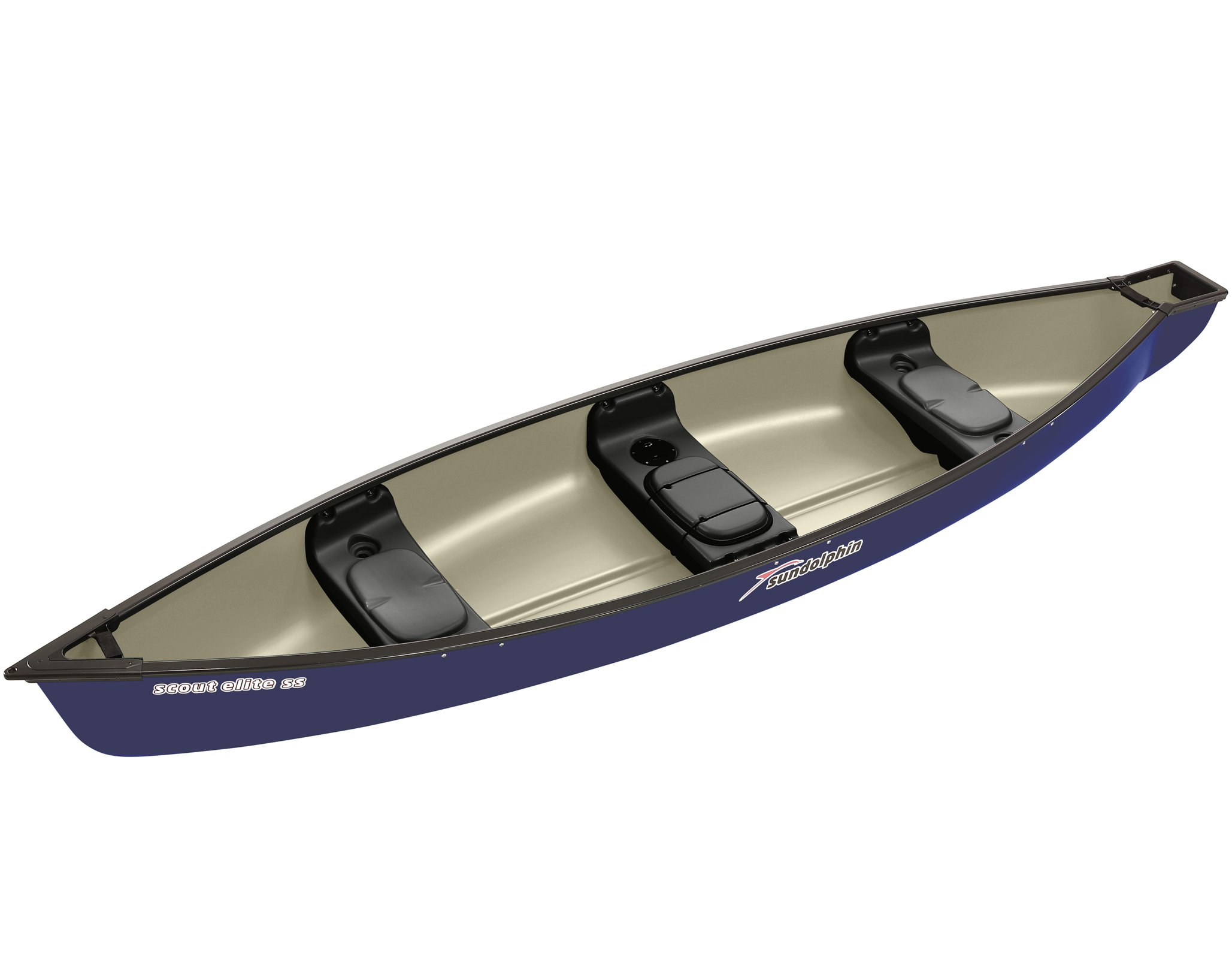 Sun Dolphin Scout Elite SS Canoe (Navy, 14-Feet) by SUNDOLPHIN