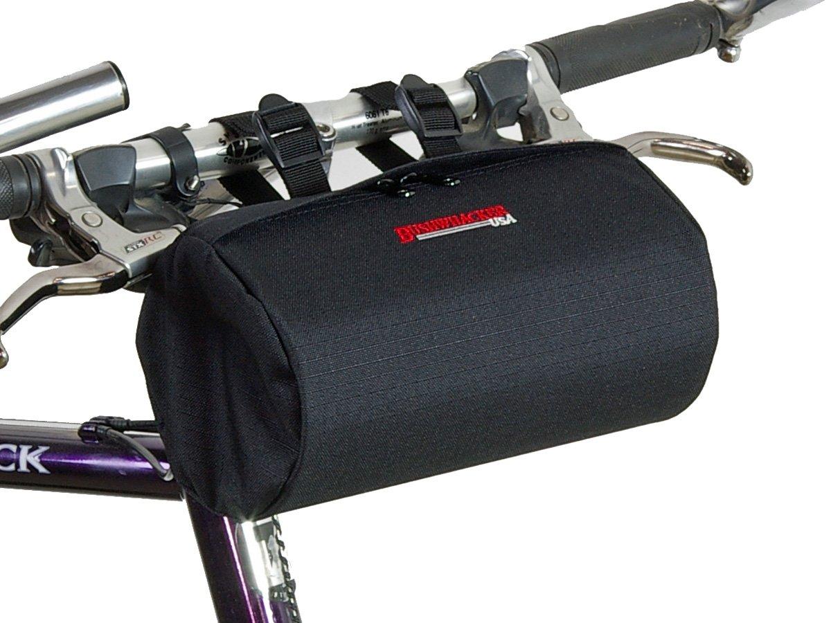 Bushwhacker Cody Black - Bicycle Handlebar & Seat Bag Cycling Pack Bike Cylinder Saddle Bag Rear Front Accessories Frame