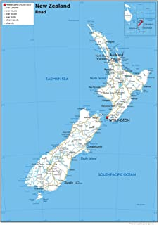 Physical Map Of New Zealand.New Zealand Physical Map Paper Laminated A1 Size 59 4 X 84 1 Cm