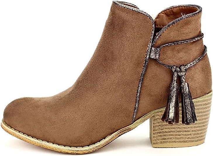 Femme Color Chaussures Sixth Taupe CendriyonBottine Sens txQrCshBd