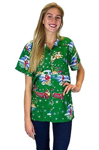 Funky Camisa Hawaiana | Mujeres | XS - 6XL | Manga Corta | Bolsillo Delantero | impresión De Hawaii ...