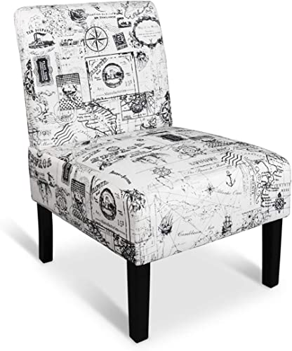 AILEEKISS Modern Retro Armless Chair Contemporary Accent Chair
