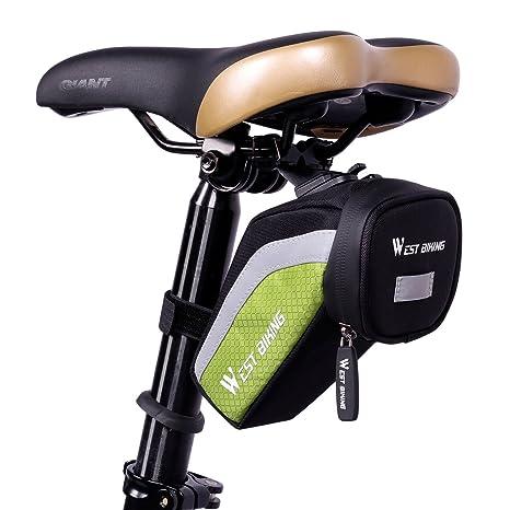 Bolsa para sillín de bicicleta West Biking, tipo alforja con arnés ...