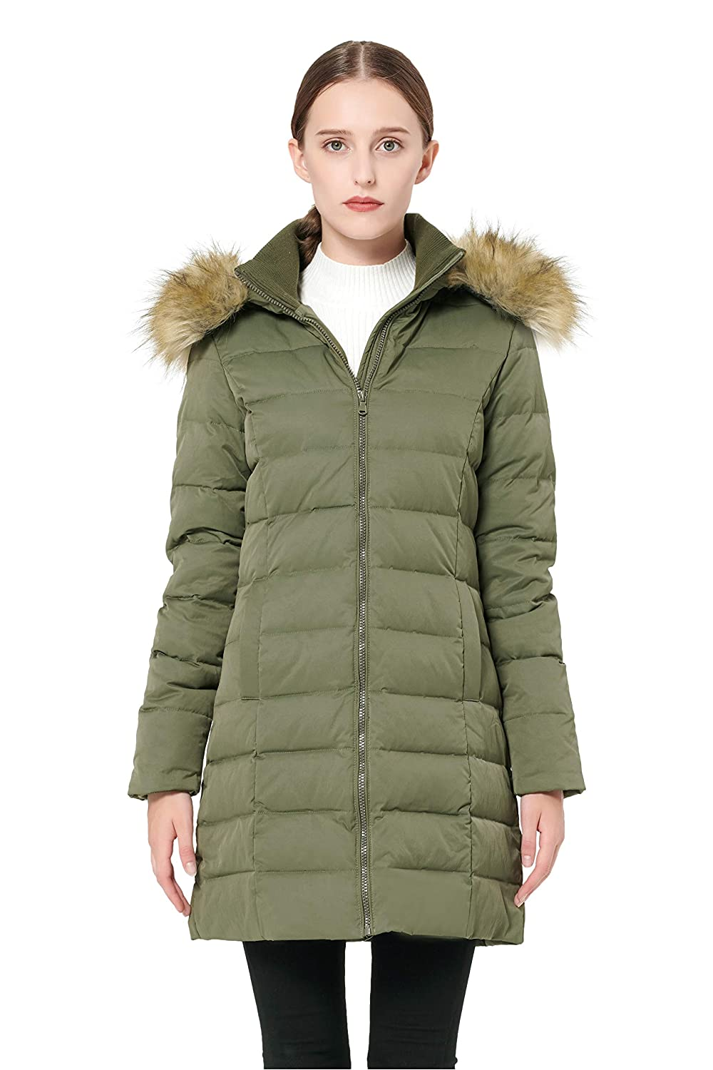 50c31781987 Amazon.com: Orolay Women's Thickened Down Jacket Winter Coat: Clothing