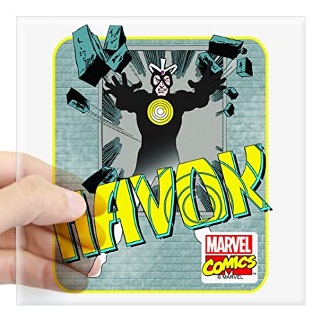 Cafepress havok x men square sticker 3 x 3 square bumper sticker