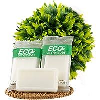ECO AMENITIES Travel size 0.5oz hotel soap in bulk, White, Green Tea, 400 Count