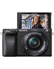 Sony Alpha 6400 E-Mount Systemkamera (24 Megapixel, 4K Video, 180° Klapp-Display, 0.02 Sek. Echtzeit-Autofokus mit 425 Kontrast AF-Punkten, XGA OLED Sucher, inklusive L-Kit 16-50 mm Objektiv) schwarz