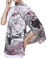 Helan femmes Réel Soie Naturelle 175 X 52 cm Foulards longs