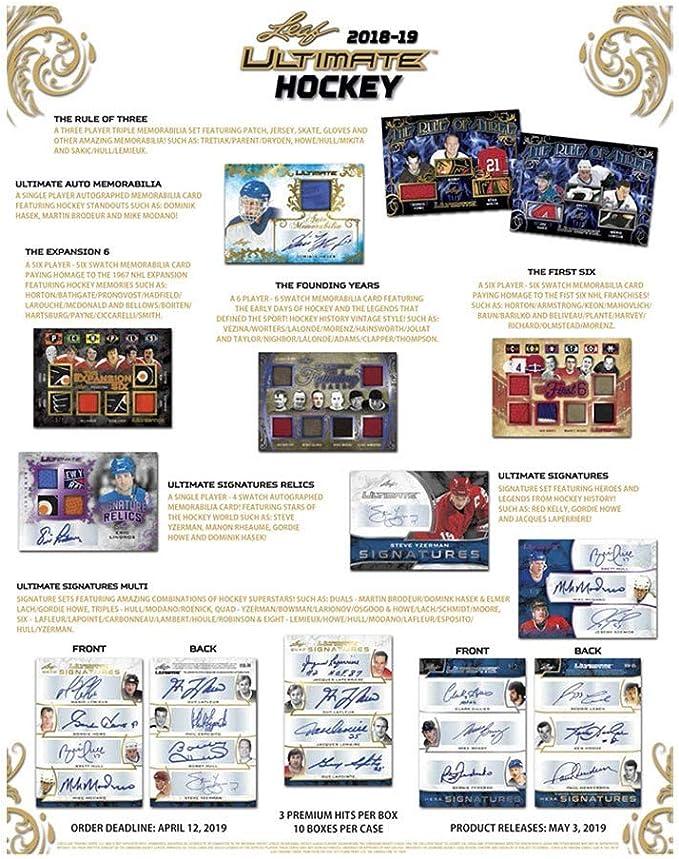 2018-19 Leaf Ultimate Hockey Hobby Box