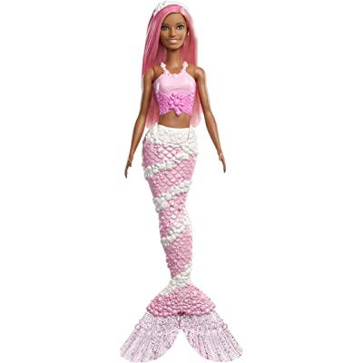 Barbie Dreamtopia Mermaid Doll, Approx. 12-Inch, Jewel-Inspired Tail, Pink Hair, for 3 to 7 Year Olds​​​​: Toys & Games