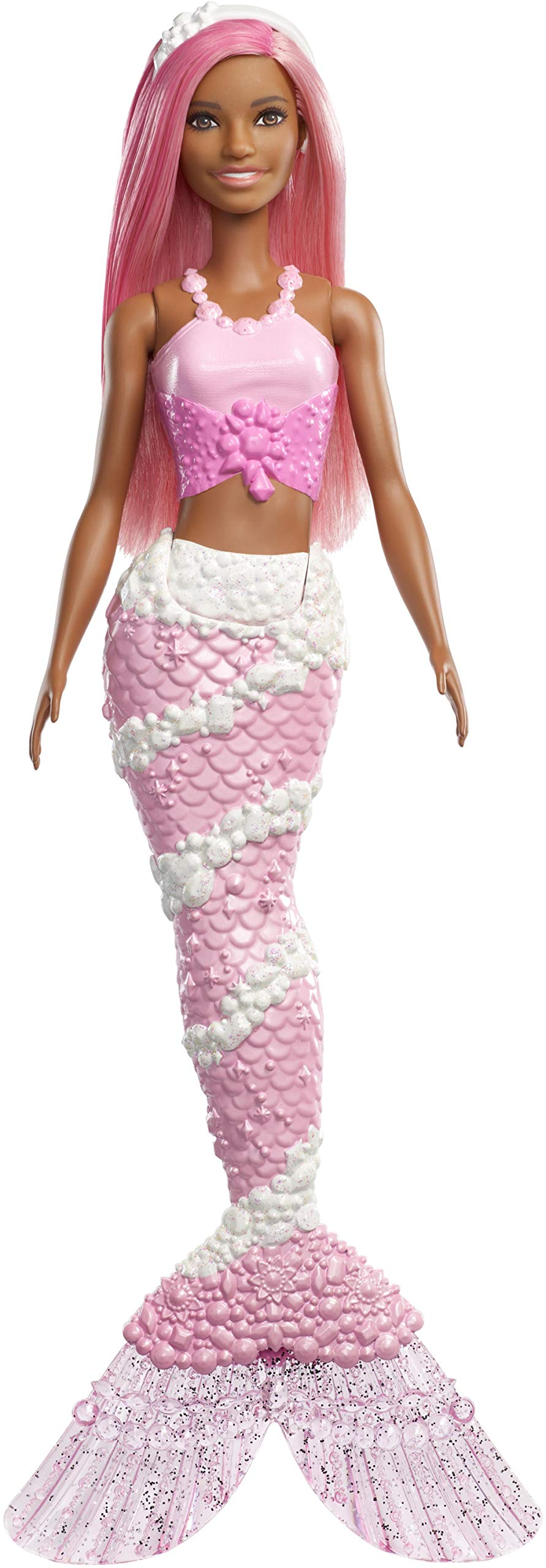 Barbie Dreamtopia Mermaid Doll, Approx. 12-Inch, Jewel-Inspired Tail, Pink Hair, for 3 to 7 Year Olds