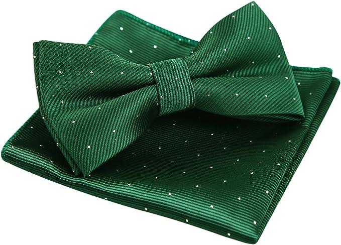 Alizeal Mini Topos-Pajarita y Pañuelo para Hombre Verde Oscuro ...