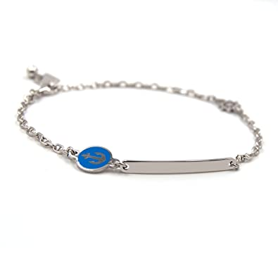 Amazon Com Bracelet Man Silver 925 With Personalized Engraving And