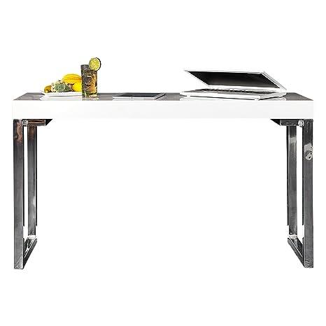 Invicta Interior Design Laptop Tavolo Scrivania Bianca 120 Cm Colore