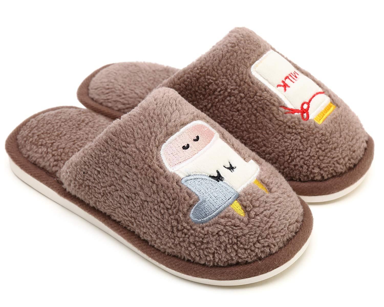 SOSUSHOE Little Kids Slippers, Winter Indoor Outdoor Slipper for Boys and Girls, Children's Cute Slip-on House Slippers