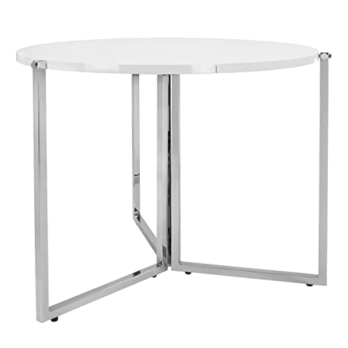 SpaceMaster Easy Folding Space Saving Expandable Large Round Kitchen and Dining Table