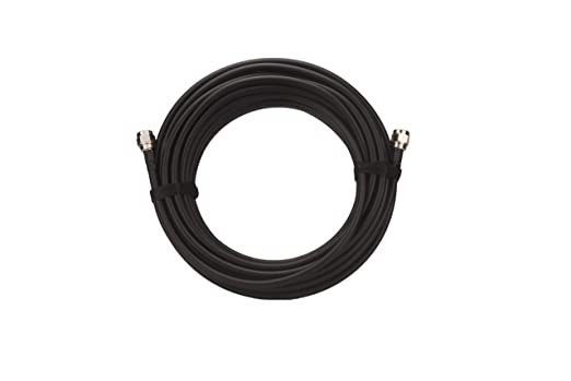 Cable coaxial (10 pies) con conectores N-Male LMR400