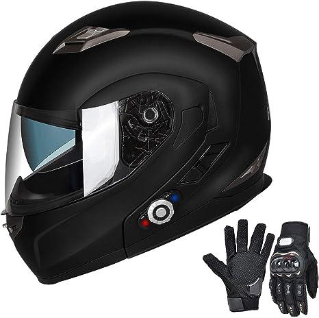 Amazon.com: FreedConn Cascos de Moto Bluetooth, M, Negro ...