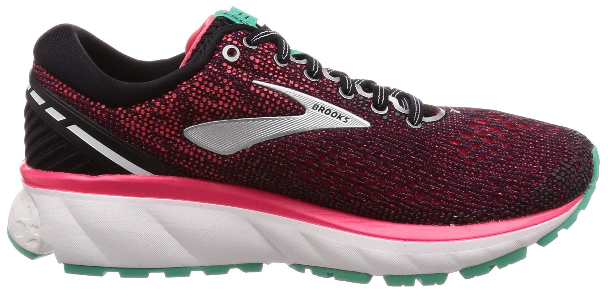 Brooks Womens Ghost 11 Running Shoe - Black/Pink/Aqua - D - 5.0 by Brooks (Image #6)