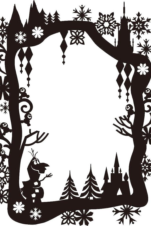 ディズニー アナと雪の女王 影絵 iPhone(640×960)壁紙画像