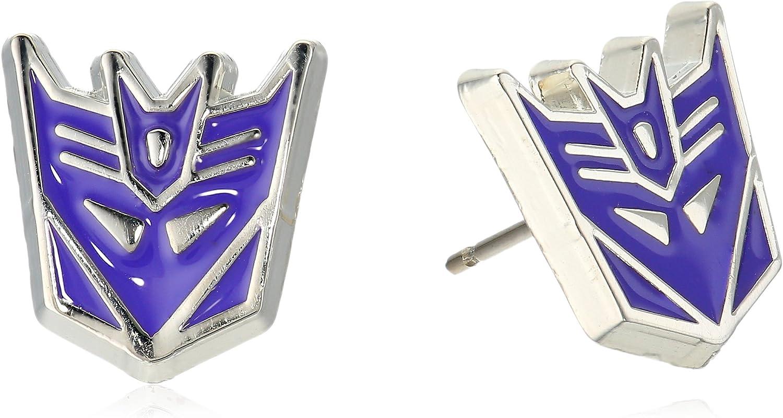 Hasbro Jewelry Unisex Transformers Stainless Steel Post Decepticon Stud Earrings