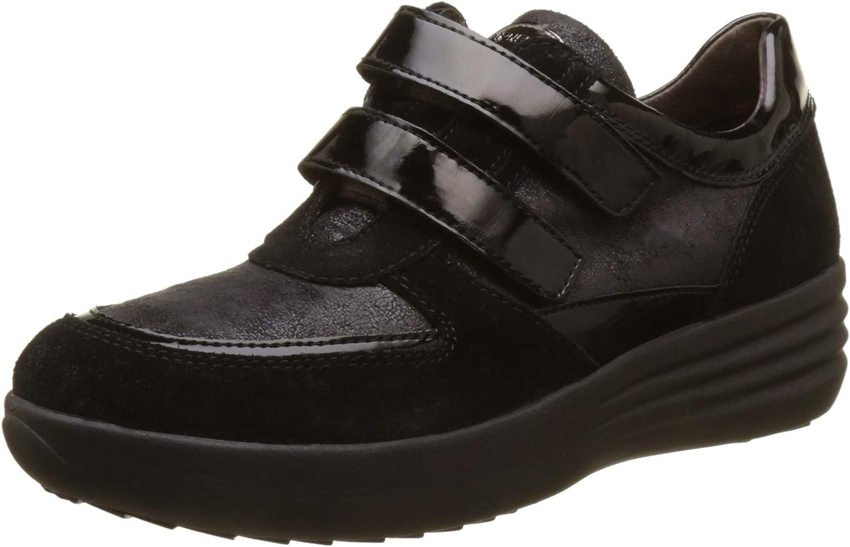 TALLA 38 EU. Stonefly Romy 16 Velour/Pat, Zapatos con Plataforma para Mujer