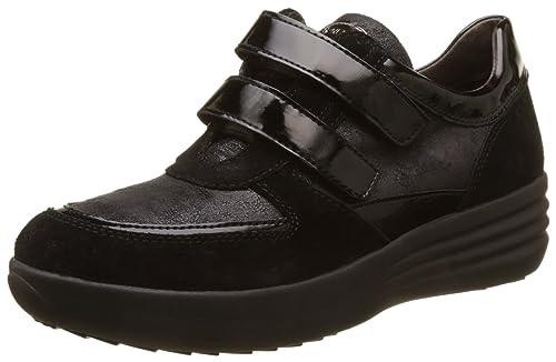Stonefly Romy 15 Velour/Pat, Zapatos con Plataforma para Mujer, Negro (Nero/Black), 39 EU