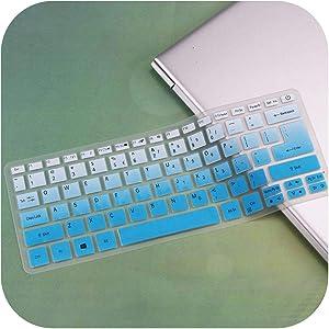 Silicone Keyboard Cover Skin Protector Guard for Acer Swift 3 Sf314 52 Sf314 54 / Swift 1 Sf114 32 14 Inch I5 8250U Notebook -Fadebluw-