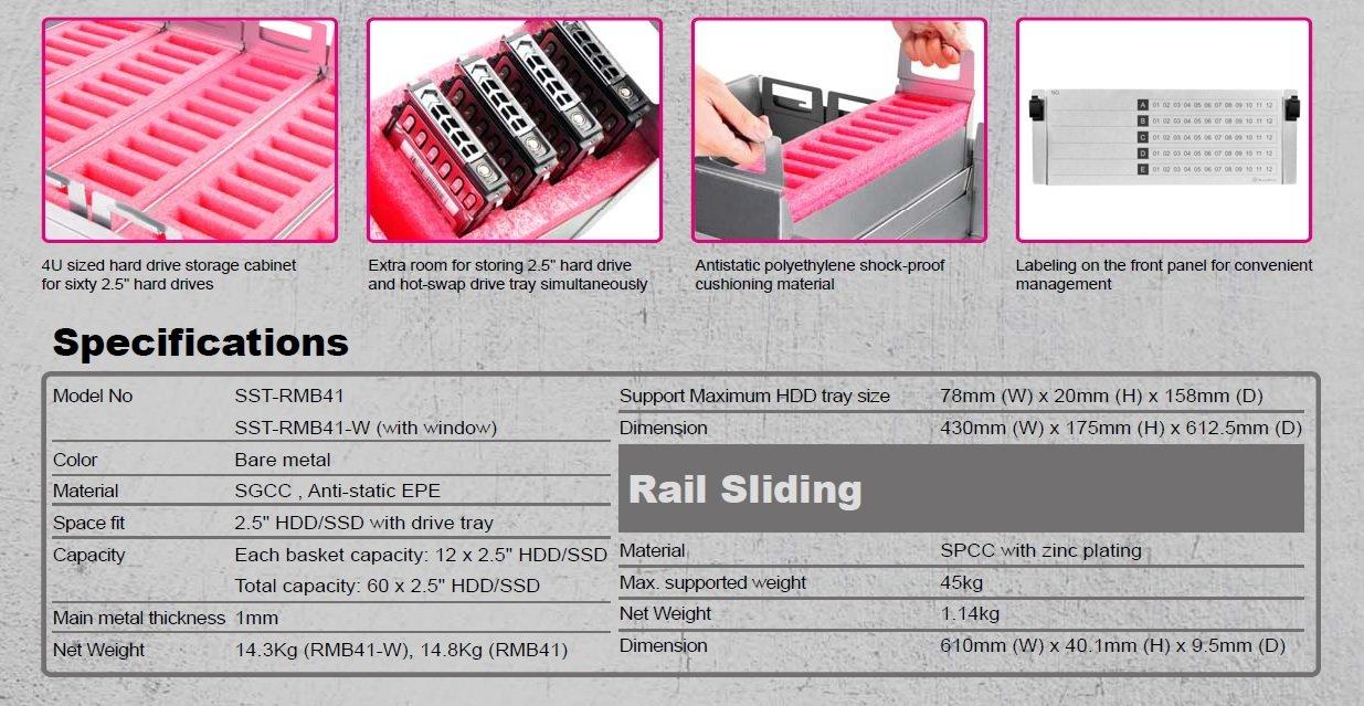 """SilverStone SST-RM208 Carcasa Servidor con Montura en Rack 2U con 8X bah/ías HDD 3,5/"""" con Cambio en Caliente"""