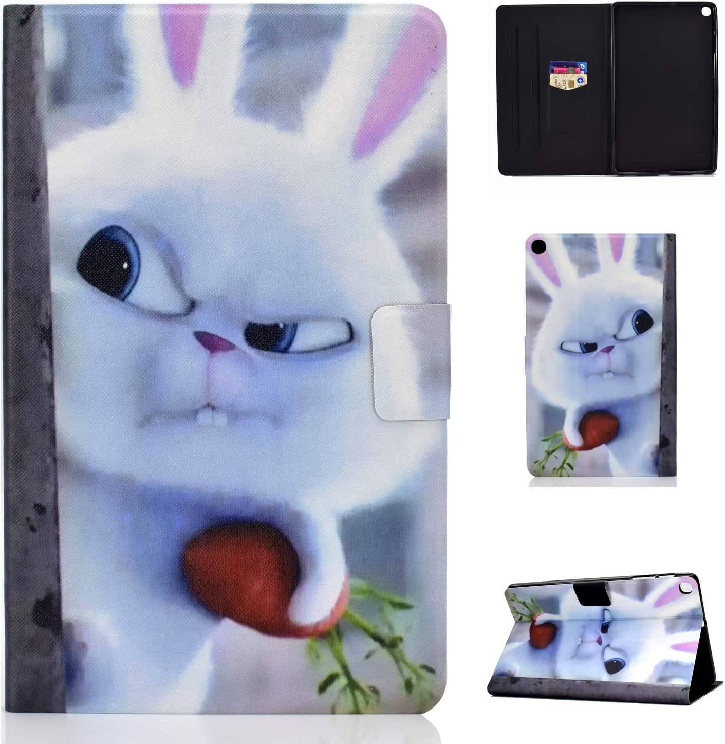 Succtop Funda Samsung Tab A 10.1 Palgadas 2019 Carcasa Cuero PU Flip Stand Tablet Caso con Cinturón Antideslizante, Ranura Tarjetas para Samsung Galaxy Tab A 2019 10.1