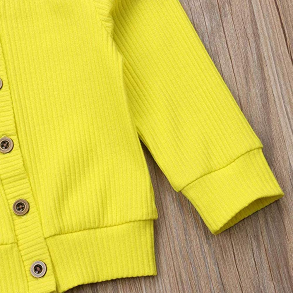 YHLZBNH Baby Boys Girls Button-Down Cardigan Cotton Knit Sweater Top Outfits Clothes