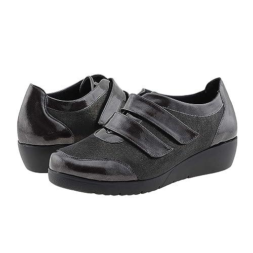 3ae1cc10517 Deportivas Licra y Velcro Gris Doctor Cutillas Talla  40 Color  Gris   Amazon.es  Zapatos y complementos