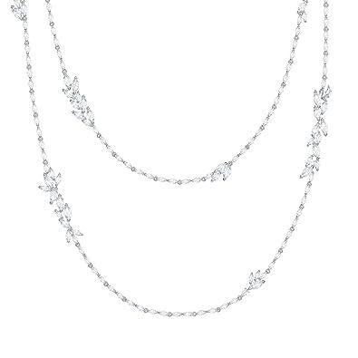 92fcd632d Amazon.com: Swarovski Crystal Louison White Rhodium-Plated Strand ...