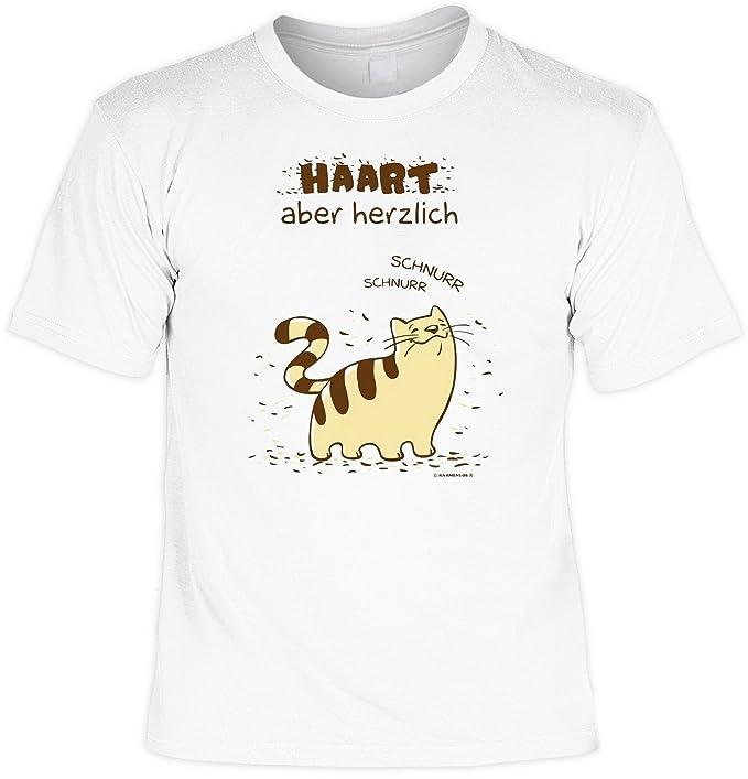 Gatos: Targa pero efusivamente gato de T-camiseta con bípedo acervo-escritura