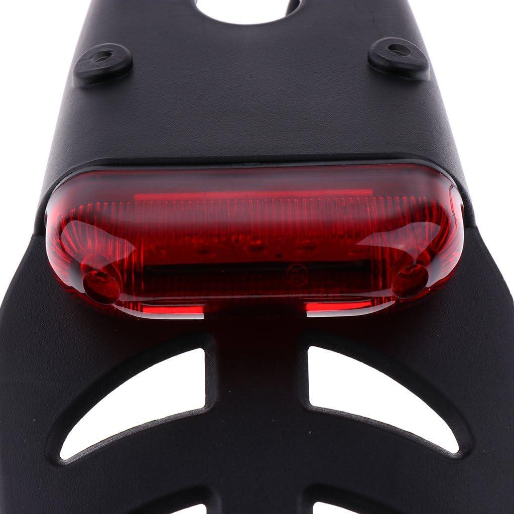 Homyl Fender LED Brake Stop Rear Tail Light for Motorcycle Enduro Trial Bike Red Lens as described