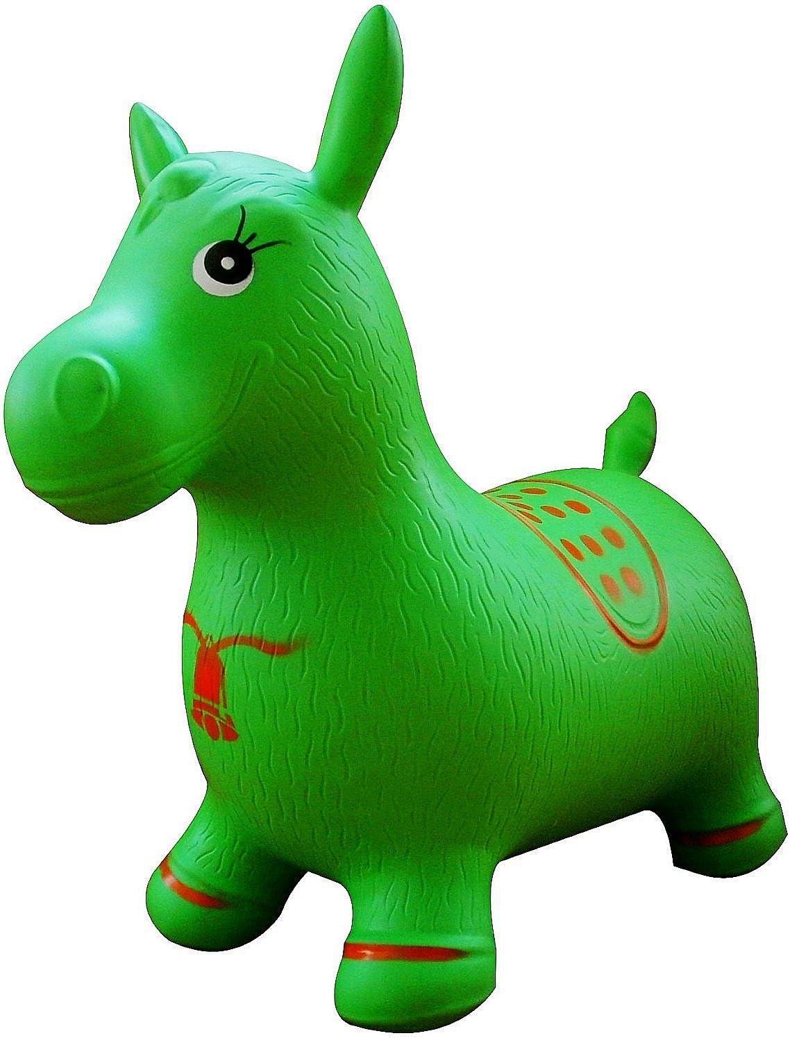 AppleRound Green Horse Hopper With Hand Pump