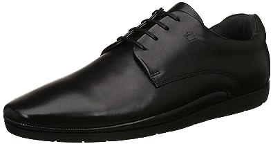 Buy Louis Philippe Men's Black Leather