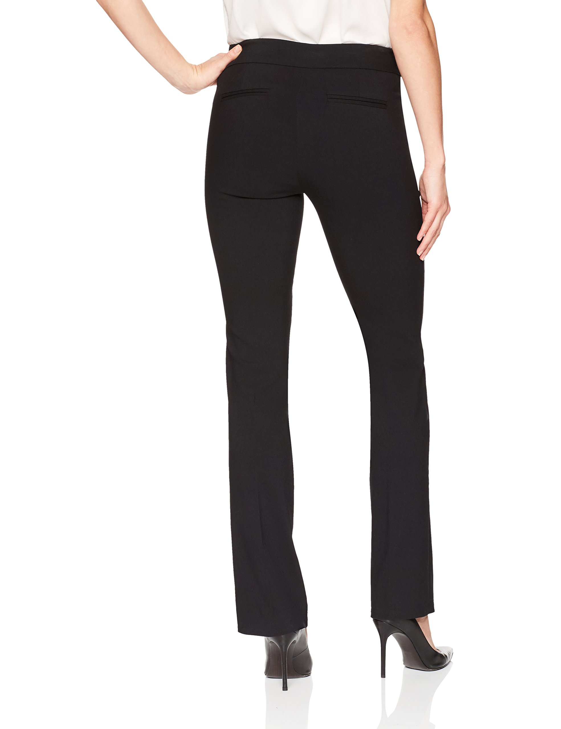 Lark & Ro Women's Barely Bootcut Stretch Pant: Comfort Fit, Black, 16 by Lark & Ro (Image #3)