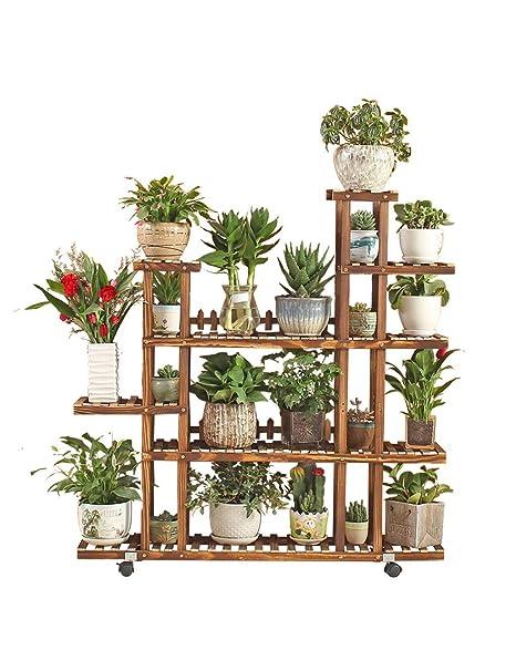 LLYU Soporte de Flores para Plantas Soporte Floral para Plantas Estante para macetas Estante de Almacenamiento