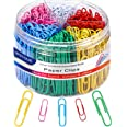 Paper Clips, Medium and Jumbo Paper Clips, Durable and Rustproof, Coated Large Paper Clips Great for Office School Document O