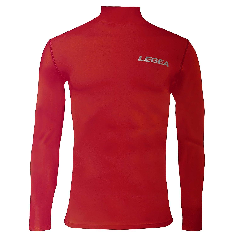 3e1a509bf2 Legea 6 Dynamic Body - Camiseta de manga larga cuello alto para hombre   Amazon.