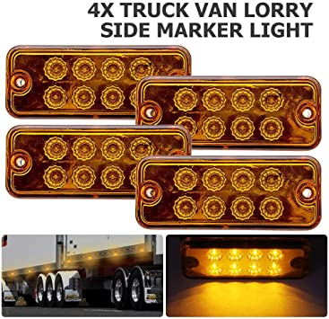 1 x 12V MARKER WHITE SIDE FRONT LED LIGHT TRAILER TRUCK LORRY CAMPER VAN BUS