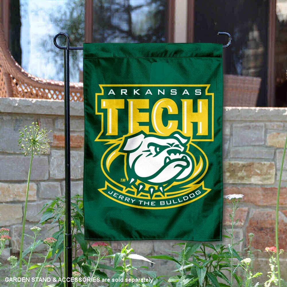 College Flags and Banners Co. Arkansas Tech Wonder Boys ジェリーブルドッグガーデンフラッグ