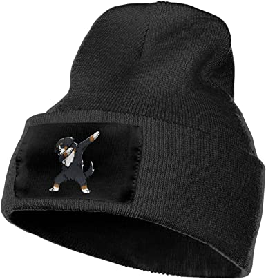 COLLJL-8 Unisex Dabbing Bernese Mountain Dog Outdoor Stretch Knit Beanies Hat Soft Winter Knit Caps